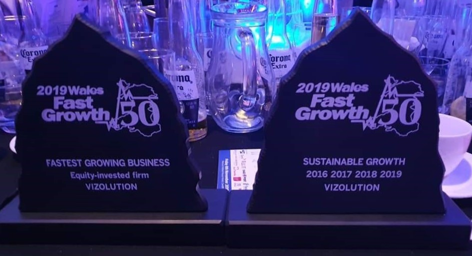 Vizolution Picks up 2 Awards at Wales Fast Growth 50