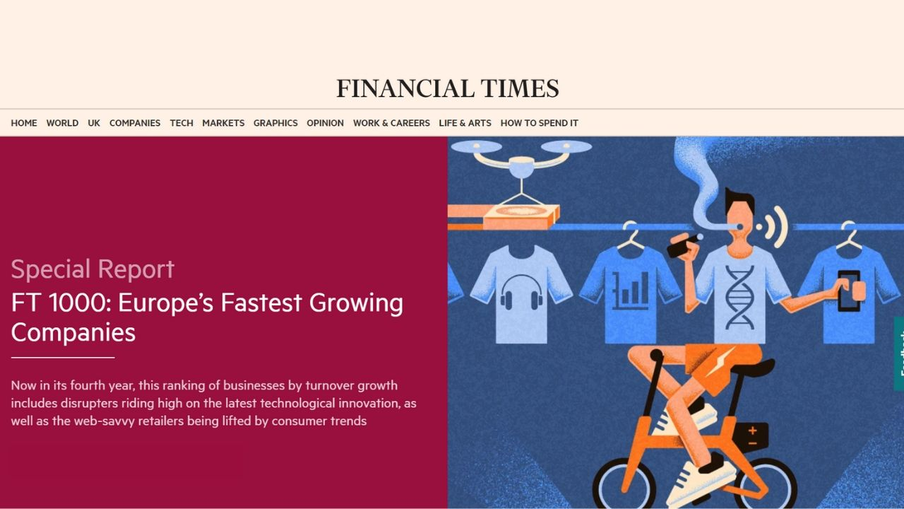 Vizolution Named One of Europe's Fastest Growing Companies in FT 1000